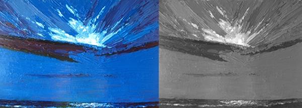 Three value painting