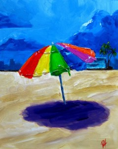 Painting: We Forgot the Umbrella under the Storm