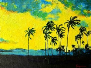 Painting: Silhouettes of Nature II