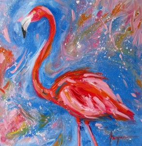 Painting: Happy Flamingo