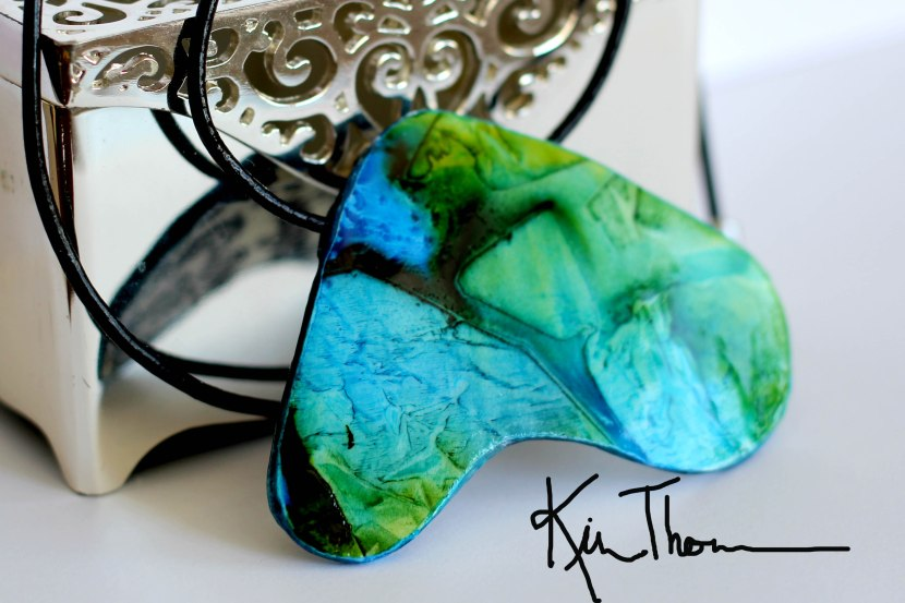 Alcohol Ink PaperPendant