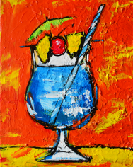 blue martini tropical drinks coctail alcohol beverage