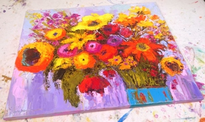 Colorful floral arrangement